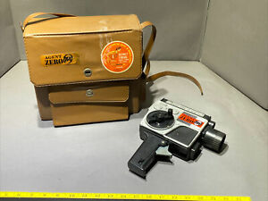 RARE MATTEL AGENT ZERO MOVIE SHOT MACHINE GUN CAMERA in ORIGINAL CASE-WORKING