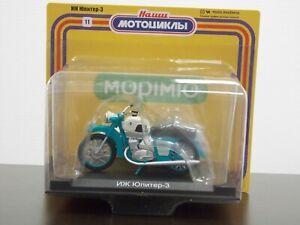 1:24 IZH Jupitert 3 K Sidecar, 1970-1978, #11 Our Motorcycles, Modimio