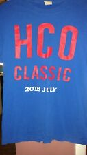 Hollister Men's XL Royal Blue T-shirt With Red HCO Classic Red Lettering