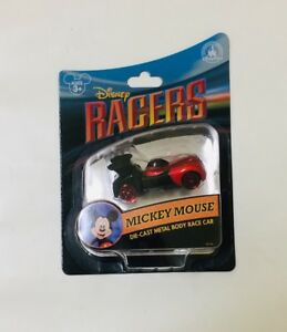 NIB Disney Parks Racers Mickey Mouse 1:64 Scale Die-cast Metal Body Race Car
