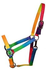 Showman Rainbow 3-Ply Nylon Horse Halter w/ Adjustable Nose! NEW HORSE TACK!!!