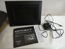"Optimus 7"" Digital Photo Frame displays Single Photo or Slide Show"