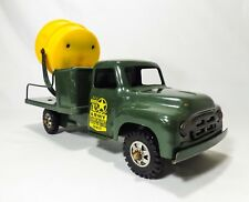 INTAGE 1950's BUDDY L PRESSED STEEL US ARMY TRUCK W/SEARCH LIGHT REPAIR-IT UNIT