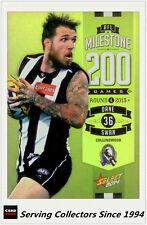 2014 AFL Champions Milestone Holofoil Card MG21 Dane Swan (Collingwood)