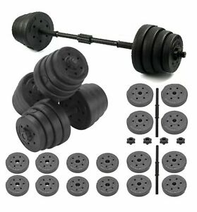 30KG Adjustable Dumbbells Free Weights Set Gym Dumbbell Pair Fitness Workout