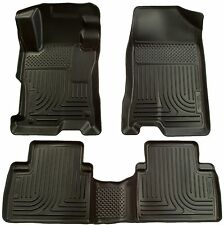 Husky Liners WeatherBeater Floor Mats - 3pc - 98521 - Toyota Prius 04-09 - Black