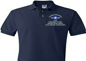 55TH AIRLIFT FLIGHT* OSAN AB SOUTH KOREA EMBROIDERED POLO SHIRT/SWEAT/JACKET.