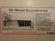 American Model Builders, Inc HO #172  Four Stall Roundhouse Kit (Kit Form)