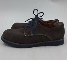 Florsheim Kids Oxfords Suede Leather Dress Shoes Grey w/ Blue Soles Boys Size 2M