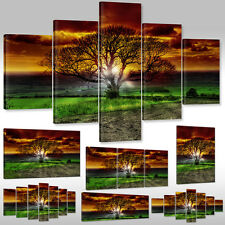 Leinwandbild Canvas Wandbild Kunstdruck Keilrahmenbild Landschaft magischer Baum
