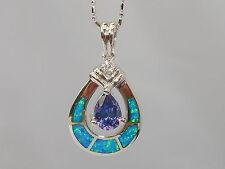 Echte Edelstein-Halsketten & -Anhänger aus Feinsilber mit Opal