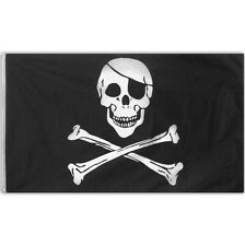 Classic Black Pirate Children's Party Jolly Roger Fabric Flag Decoration