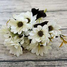 Artificial Flowers Silk Daisy Fake Plants Wedding Bride Bouquet Home Party Decor