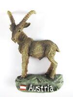 Steinbock Österreich Poly Souvenir Magnet 8 cm,Austria,Neu