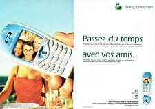 PUBLICITE ADVERTISING 125  2002  SONY ERICSSON  T68i (2pages) téléphone mobile
