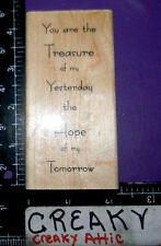 YOU ARE TREASURE OF YESTERDAY HOPE OF RUBBER STAMP PAPER INSPIRATIONS G9617