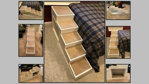 """Pet Steps / Dog Steps any Size Pet / Solid Wood Built to Order (58""""L 16""""W 26""""H)"""