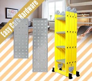 3.7 4.7m 5.7m Multi Purpose FIBREGLASS aluminium Folding Platform Ladder 150KG
