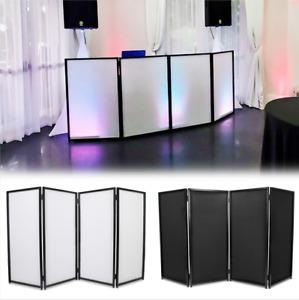 DJ Event Facade White/Black Scrim Metal Frame Booth +Travel Bag Case
