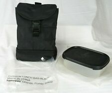 Tupperware Lunch Bag & Tupperware Container Black New