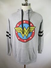 F4036 Wonder Woman Logo Hood Pull-Over Sweater Size XL 15-17