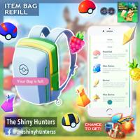 Pokémon Go - Full Bag Refill - Random Items - Balls, Berries, Potions & More! ✅
