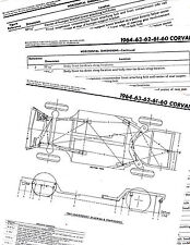 1960 1961 1962 1963 1964 CORVAIR FRAME DIAGRAM CHART WITH DIMENSIONS 6064BKM 2