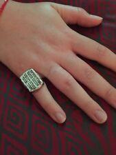 Judaica Torah Prayer Ring .935 Argentium Sterling Silver