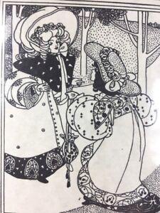 Art Nouveau Stationery Appreciate You as a Customer Insert Women Amway 1984 NOS