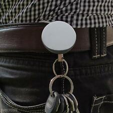 60cm Steel Wire Retractable Pull Key Chain Ring Recoil Keychain Belt Clip Gift