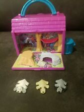 Vintage Pound Puppies Mini Camp Hideaway Playset with 3 Animals  Dog figures