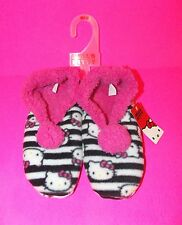 NWT Sanrio Hello Kitty Sherpa lined Pom SLIPPER SOCKS for Women  5/6