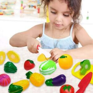 44Pcs Fruit Vegetable Food play Cutting. board Pretend Chef Kitchen Set