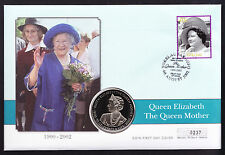 Tokelau Queen Mother Memorial cover Ghana coin & stamp on FDC FDI Royalty Royal
