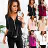 Women Lady Long Sleeve Loose Blouse Casual Shirt Summer Chiffon Tops T-Shirt Lot