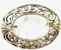 Vintage Sterling Silver Ornate Brooch Pin GIFT BOXED