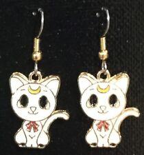ARTEMIS Sailor Moon Earrings Surgical Hook New Anime Usagi Tsukino White Cat
