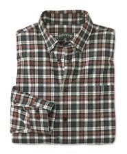 ORVIS Luxury Cotton & Merino Long Sleeve Men's Shirt GREEN VICUNA / XTRA L $139