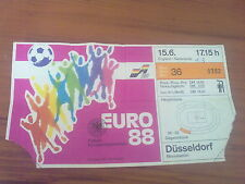 Ticket England - Netherlands (Holland) 1988 EURO Tournament
