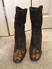 Lavorazione Artigiana Boots  - Suede & Leather - Made in Itay - Heels - Size 7.5