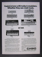 1983 Casio PT 20 30 MT 45 65 70 CT 405 501 7000 Keyboards vintage print Ad