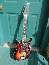 Vintage silvertone Model 1445 Kurt Cobain Mosrite Copy Electric Guitar Rare