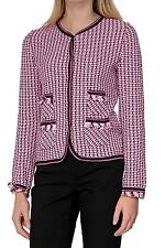 Damen-Strickjacken aus Baumwolle mit Karo -/Rauten-Muster