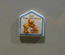 Gund Refrigerator Magnet #60485-A, GOD BLESS THIS HOUSE, NEW From Retail Store