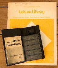 Leisure Library Modul TI 58 59 Texas Instruments Vintage Taschenrechner