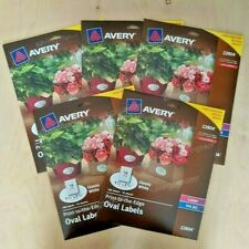 900ct Avery Glossy White Oval Labels 15 X 25 Print To The Edge Laserinkjet