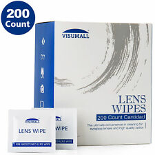 200Ct Lens Cleaning Wipes For Eyeglass Screen Optical Camera Phone Cleaning New