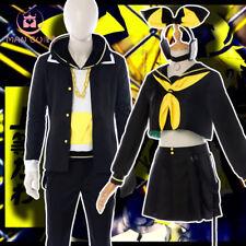 Kagamine Rin Len formato Juegos con disfraces Disfraz de Halloween Traje Completo Unsiex Negro