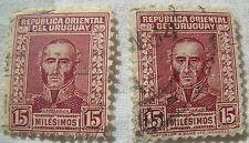 Uruguay Stamp 1933 Scott 429 A126  Set of 2