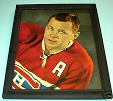 1957 CANADIENS DOUG HARVEY FRAMED COLOR CLOSE UP PRINT